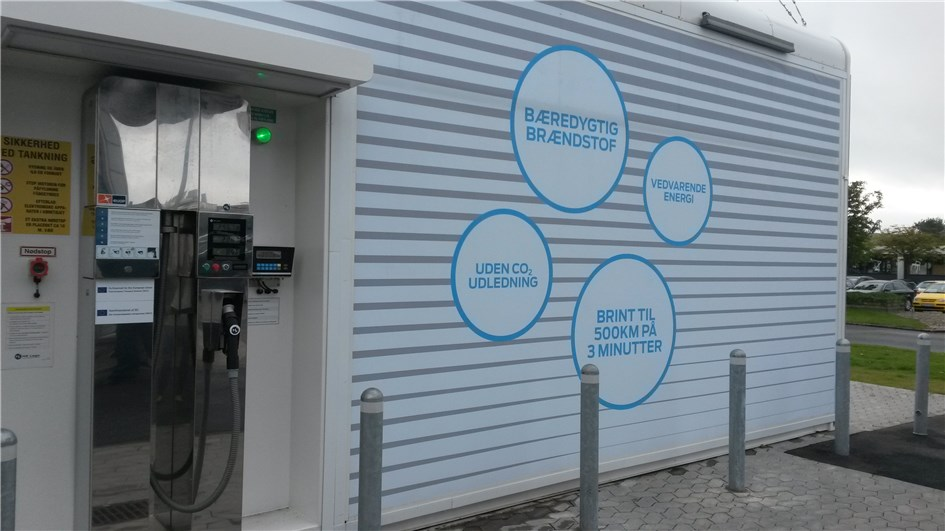 A new hydrogen filling station has opened in Denmark